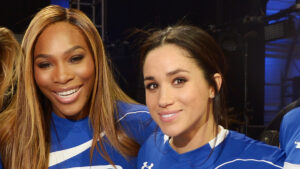 Meghan and Serena Williams